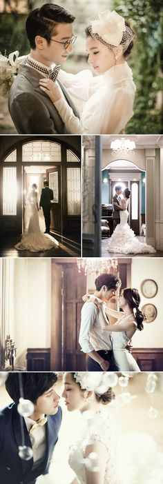 Real Life K-Drama 30 Dreamy Korean Concept Pre-wedding Photos! Wedding Couple Photos, Romantic Wedding Photos, Pre Wedding Photoshoot, Wedding Poses, Wedding Couples, Wedding Portraits, Romantic Scenes, Trendy Wedding, Korean Wedding Photography