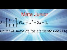 Como desarrollar una ecuacion matricial Sigueme en facebook y YouTube como Mate Junior