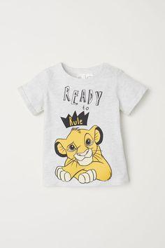 T-shirt avec impression - Gris clair/Le Roi lion - ENFANT   H&M FR 1