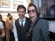 With friend Eric McCormack @ JV