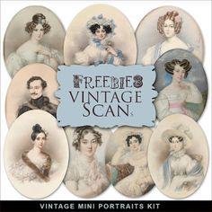 Nuevo Kit Freebies Vintage Portraits