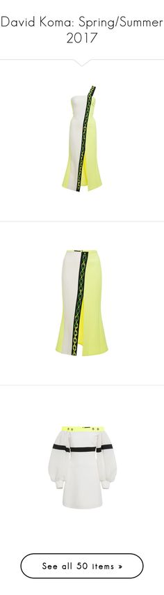 """David Koma: Spring/Summer 2017"" by livnd ❤ liked on Polyvore featuring davidkoma, springsummer2017, livndfashion, livnddavidkoma, dresses, strappy dress, mid calf dresses, white day dress, front slit dress and chain strap dress"