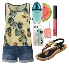 """My summer Greece"" by jelenaprinceza on Polyvore featuring LE3NO, Vero Moda, Casetify, Calvin Klein, Essie, NARS Cosmetics and Kate Spade"