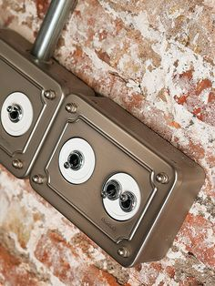 Retro light switches. Ultra-modern house with amazing layout in Spain