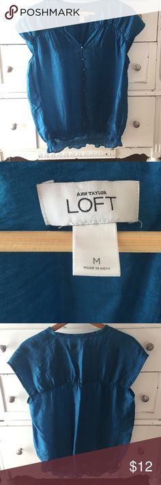 Ann Taylor Loft blouse, size M, lyocell & nylon Ann Taylor Loft blouse, size M, 77% lyocell & 23% nylon.  Great condition! Ann Taylor Tops Blouses