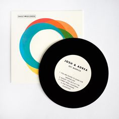 Vintage Wedding invitation  Record with Sleeve by ellothere, $6.50