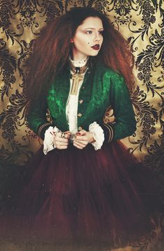 Green Damask Jacket by Jenny Edwards-Moss. Restyled by Claudia Edwards. Photography by Victoria Cadisch.