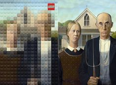 American Gothic, Grant Wood | Famous Paintings Reimagined Using Legos