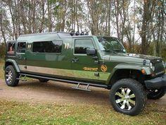 Jeep Limousine. www.romanworldwide.com #orangecountylimo #lacountylimo #247limo