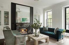 Nina Farmer - turquoise velvet tufted sofa - does it get any better?