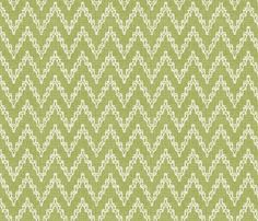 Faded French Chevrons - Green fabric by kristopherk on Spoonflower - custom fabric