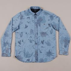 Paul Smith Printed Chambray - Light Blue