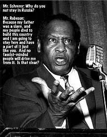 Paul Robeson shouts down HUAC