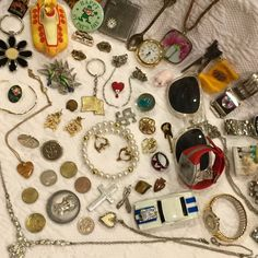Vintage Junk Drawer Lot Coins Jewelry Watches Marble Beatles Junk | eBay
