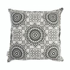 Handmade Scatter Cushion locally designed and printed in Durban, South Africa. Available in 17 pattern options. cushion cover with a concealed zip. Black Cushions, Scatter Cushions, Throw Pillows, Thing 1, Fabric Labels, Cushion Covers, Mosaic, Tapestry, Prints