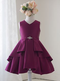 9fbf23a9f Beautiful Designs Custom Satin Frock Party Dress For 2-12 Years Old ...