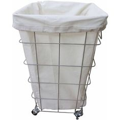 Better Homes and Gardens Square Caged Hamper, Nickel/White at walmart for $17