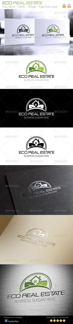 Buy Eco Real Estate Logo by MatrixPixel on GraphicRiver. Eco Real Estate Logo Everything is done in vector, so it is highly customizable and can be resized without loss of qu. Logo Sketch, Business Slogans, Graphic Design Flyer, Farm Logo, Organic Logo, Graph Design, Real Estate Logo, Logo Sign, Symbol Logo