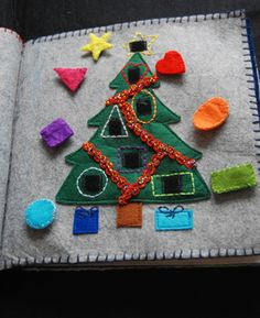 Christmas tree with different shape & color ornaments