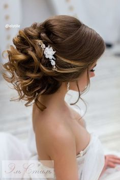 Coiffure De Mariage  : Featured Hairstyle: Elstile; www.elstile.ru; Wedding hairstyle idea.