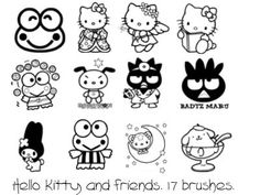 5c4f2c6926 Hello Kitty Templates and Coloring Pages.