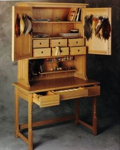 Fly Tying Bench ~ amazing work by artist Roberto Lavadie.