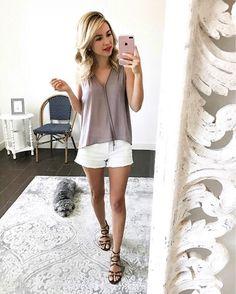 #Fashionblogger @monicsutter loves a lush lavender tank top, especially paired with #CarlosSantana #leopardsandals.  EMMA #linkinbio #petiteblogger #lushclothing #nordygirl #carlosshoes #carlosbycarlossantana
