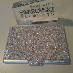 New crystalicious initial business card holder embellished with new crystalicious initial business card holder embellished with genuine crystals from swarovski itscrystalicious accessories pinterest busi colourmoves