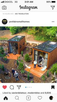 Container House Design, Tiny House Design, Farm Stay, Tiny House Living, Small Living, Cabin Homes, Architect Design, Prefab, Interior Design Living Room