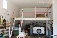 En este garaje se ha conseguido aumentar la superfcie útil con muy poco presupuesto.