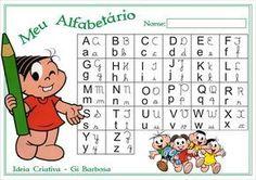 Alfabetário Colorido Turma da Mônica