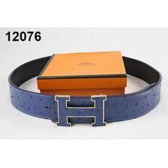Hermes Belt Men Blue