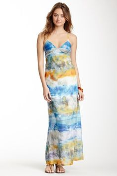 Gypsy05 Printed Silk Spaghetti Maxi Dress by Non Specific on @HauteLook