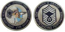 Air Force Chief Master Sergeant E9 Challenge Coin - Decomil