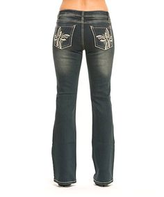 bbc8957395 Love this RED by Rose Royce Onyx Allie Bootcut Jeans - Women by RED by Rose
