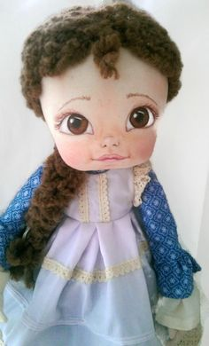 Unique art cloth dolls, handmade fabric dolls by KamomillaDesign Handmade Dolls, Fabric Dolls, Unique Art, Doll Clothes, Disney Characters, Fictional Characters, Etsy Seller, Textiles, Hand Painted