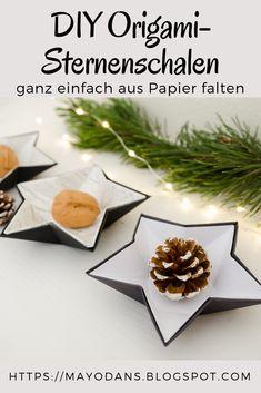 DIY Weihnachtliche Origami Sternenschalen aus Papier und Alufolie - List of the most creative DIY and Crafts Origami Rose, Origami Ball, Diy Origami, Origami Simple, Origami Star Box, Origami Butterfly, Paper Crafts Origami, Useful Origami, Origami Stars