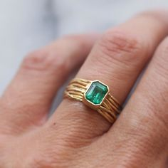 Another shot of the emerald  18k gold ring again because I love it so!   #zambianemerald #18kgold #hwseacollection