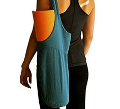 Yoga Mat Bag Fitness Exercise Sling Tote Fits All Sizes Open Top Deep Ended Design Soft and Durable Cross Strap Ecofriendly Canvas Lake Green *** To view further for this item, visit the image link. (This is an affiliate link)