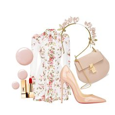 Untitled #610 by rhiannonkennedy on Polyvore featuring moda, Zimmermann, Christian Louboutin, Chloé, Yves Saint Laurent and Topshop