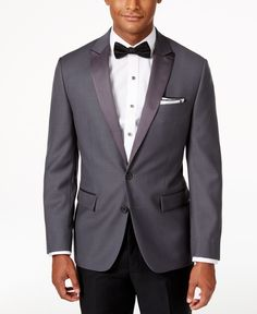 13a942dbb2ec Ryan Seacrest Distinction Men's Slim-Fit Grey Tuxedo Sport Coat, Only at  Macy's & Reviews - Blazers & Sport Coats - Men - Macy's