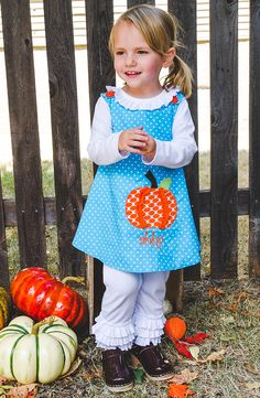 Dress your little one ready for the pumpkin patch in this jumper! Shop Kelly's Kids Pumpkin Spice collection - releasing October 8th!