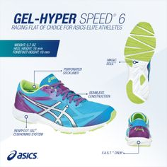The GEL-HYPER SPEED® 6 is the #shoe for you if you are a neutral #pronator who desires seamless construction and faster #running.
