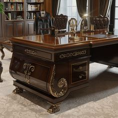 Office Furniture on Behance Traditional Home Office Furniture, Classic Office Furniture, Office Furniture Design, Office Interior Design, Office Interiors, Law Office Decor, Office Table Design, Modern Home Offices, Vintage Home Offices