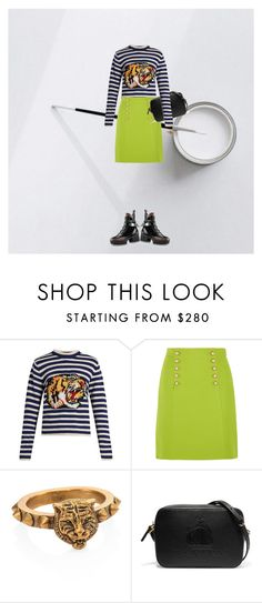 """""""craved a little colour in her life"""" by sharmarie ❤ liked on Polyvore featuring Gucci and Lanvin"""