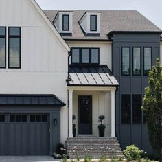 Dark Paint Colors, Modern Farmhouse Design, Farmhouse Decor, Dream Home Design, Exterior Colors, Exterior Paint, Stone Exterior, Design Inspiration, Design Ideas