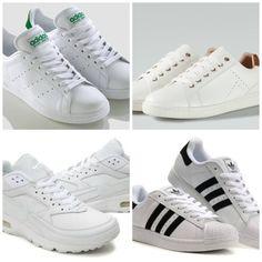 save off fcce5 27a69 zapatillas blancas Nike y Adidas. IrisPeople.com · Tendencias mujer 2016