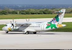 ATR-42-500 aircraft picture. The first of two new airlines starting flights to Curacao today is seen here on hold for departure, welcome!!!  Air Antilles Express Willemstad / Curacao - Hato (CUR / TNCC) Curacao, December 15, 2013