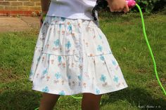 "pattern ""p – Tiered Skirt"" from the book ""Sew Chic Kids"" size 110cm"