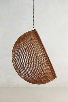 chair hanging from the ceiling